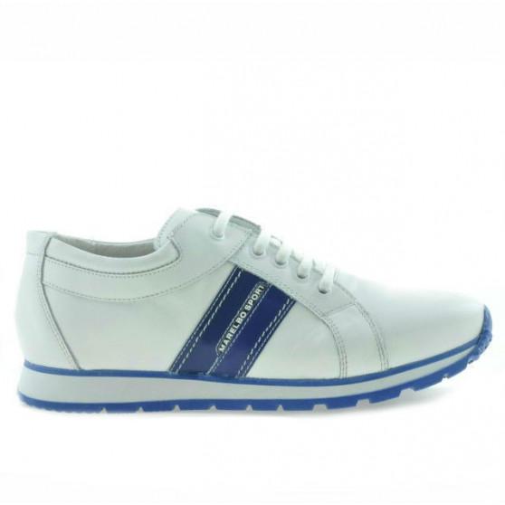 Pantofi sport adolescenti 311 alb+indigo