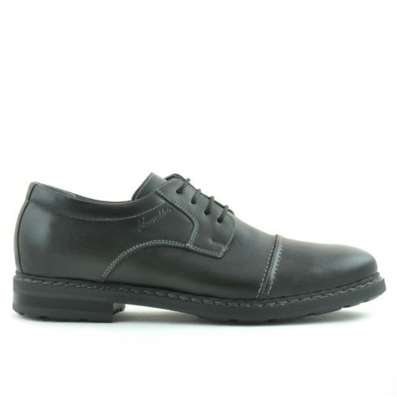 Men stylish, elegant, casual shoes 756 black