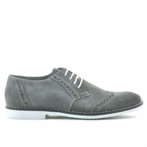 Pantofi casual / eleganti barbati 746 gri velur