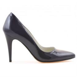 Women stylish, elegant shoes 1246 patent indigo