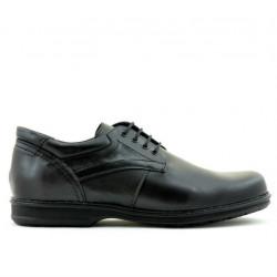 Men stylish, elegant, casual shoes 854 black