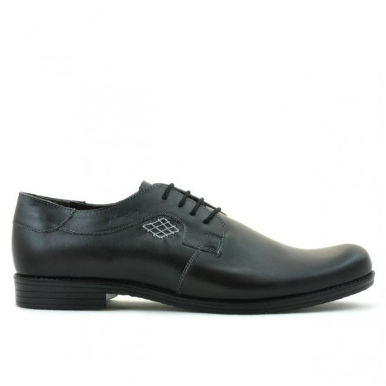 Men stylish, elegant, casual shoes (large size) 730m black
