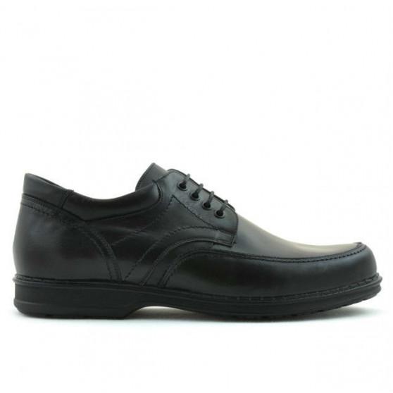 Men stylish, elegant, casual shoes 855 black