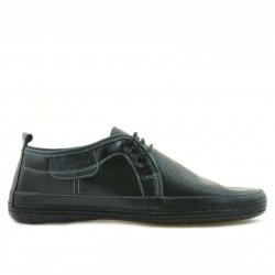 Men loafers, moccasins 865 black+gray