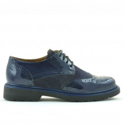 Women casual shoes 663 patent indigo combined