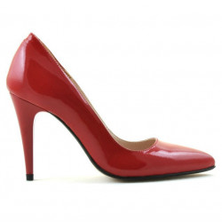 Pantofi eleganti dama 1246 lac rosu