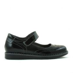 Children shoes 153 patent black combined