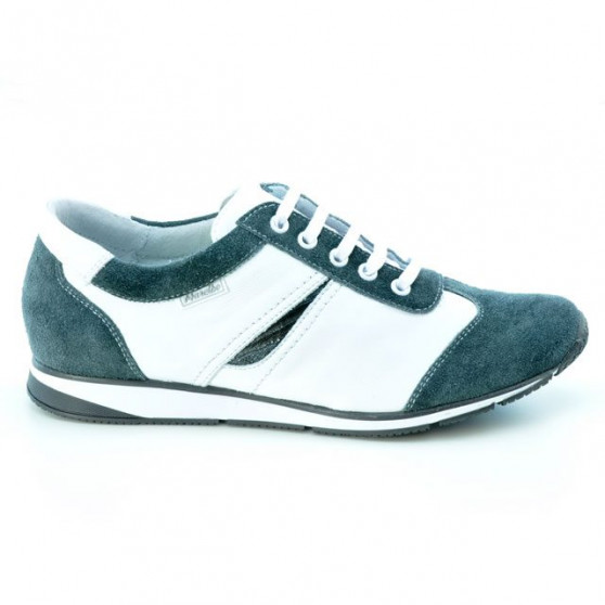 Pantofi sport dama 196 gri velur+alb