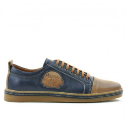Men casual, sport shoes 766 indigo+brown