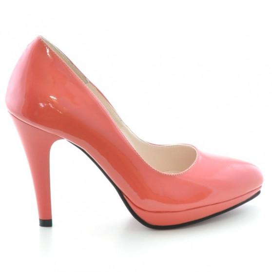 Pantofi eleganti dama 1233 lac rosu corai