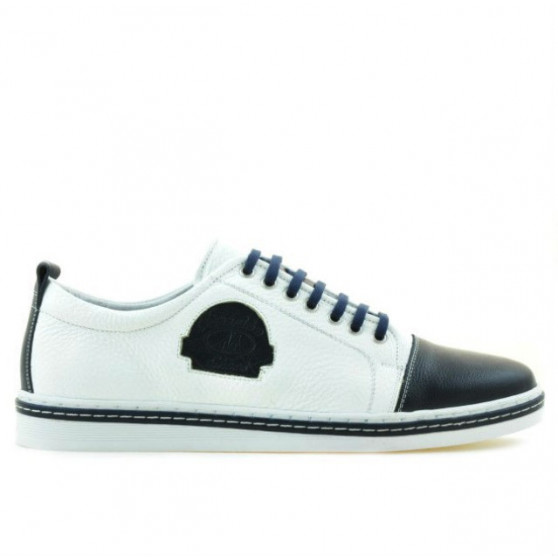 Men casual, sport shoes 766 indigo+white