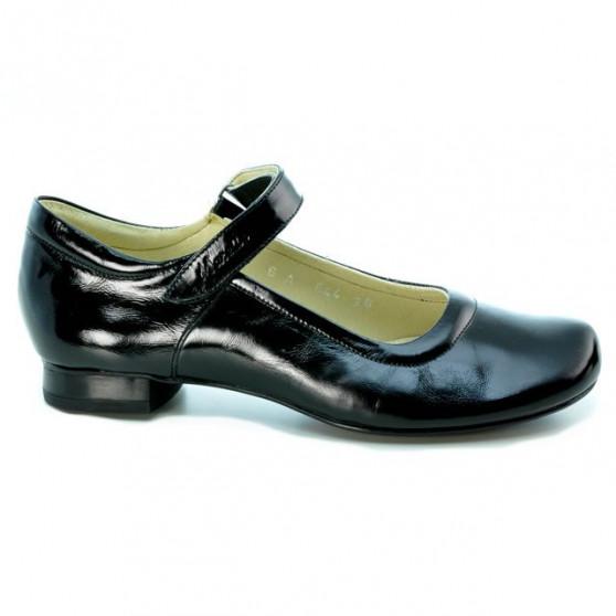 Pantofi casual dama 644 lac negru