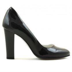 Women stylish, elegant shoes 1214 patent black