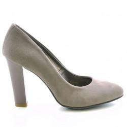 Women stylish, elegant shoes 1214 cappuccino antilopa