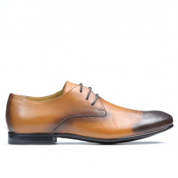 Men stylish, elegant shoes 828 a brown
