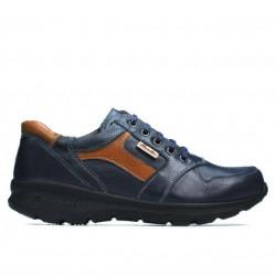 Teenagers stylish, elegant shoes 397 indigo+brown