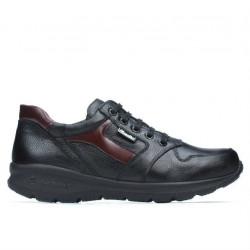 Teenagers stylish, elegant shoes 397 black+bordo
