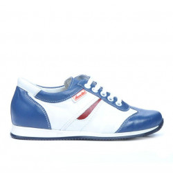 Children shoes 136 indigo+white
