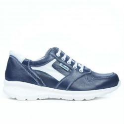 Teenagers stylish, elegant shoes 397 indigo+white
