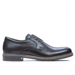 Men stylish, elegant, casual shoes 755-1 a brown