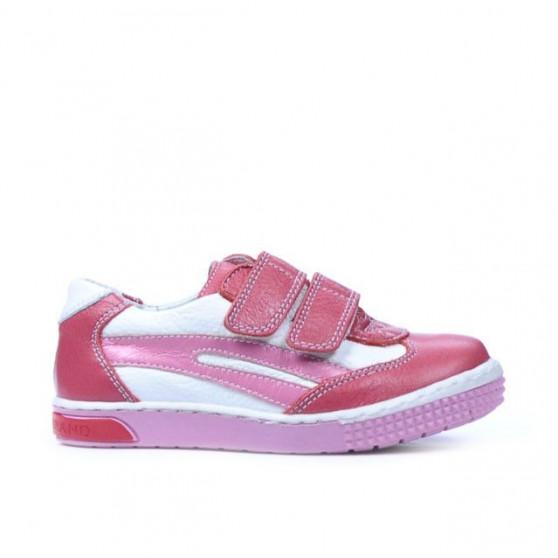 Pantofi copii mici 16c roz+alb