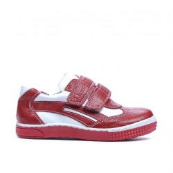 Pantofi copii mici 16-1c rosu+alb