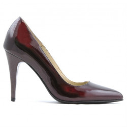 Pantofi eleganti dama 1246 lac bordo 01