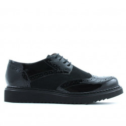 Women casual shoes 663-1 patent black combined