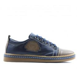 Pantofi sport adolescenti 392 maro+indigo