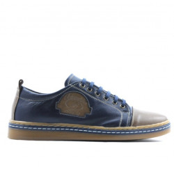 Teenagers stylish, elegant shoes 392 brown+indigo