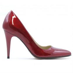 Women stylish, elegant shoes 1246 patent bordo