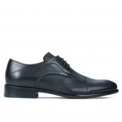 Men stylish, elegant shoes 822 black