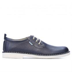 Men casual shoes (large size) 7201m indigo