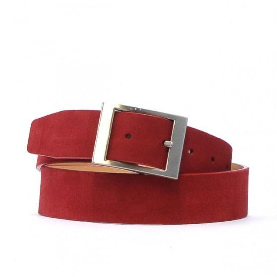 Women belt 02m red velour