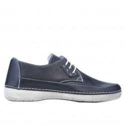 Women loafers, moccasins 672 indigo