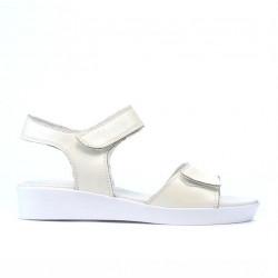 Children sandals 532 beige pearl