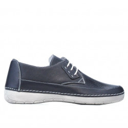 Women loafers, moccasins 672m indigo