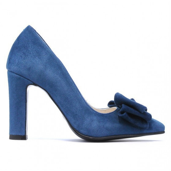 Women stylish, elegant shoes 1252 turcoaz antilopa
