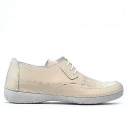 Women loafers, moccasins 672 beige
