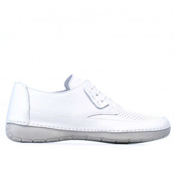 Women loafers, moccasins 672m white