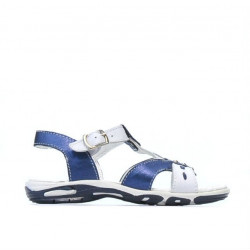 Sandale copii mici 10c indigo+alb