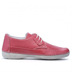 Women loafers, moccasins 672m pink