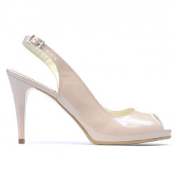 Sandale dama 1250 lac ivoriu