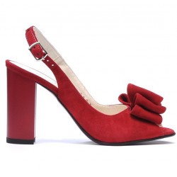 Sandale dama 1256 rosu antilopa