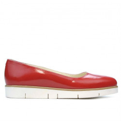 Women casual shoes 677 patent red