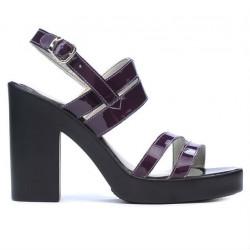 Sandale dama 5027 lac mov