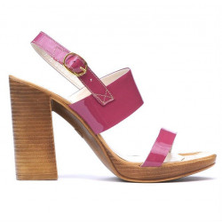 Women sandals 5028 patent fucsia