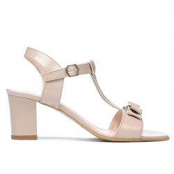 Sandale dama 1257 lac ivoriu