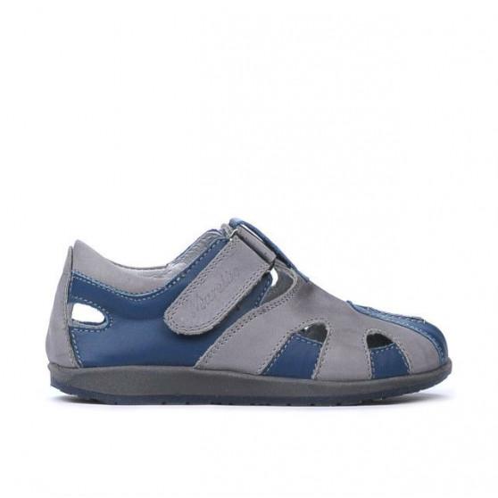 Pantofi copii mici 07c indigo+gri