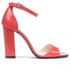 Sandale dama 1259 lac rosu corai